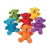 Fun Express Primary Plush Bears (24 Pack)