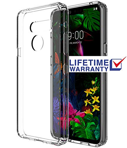 ASMART LG G8 ThinQ Case, LG G8 Case, See-Through LG G8 ThinQ Phone Case Clear Crystal Cover Slim Grip Bumper Acrylic Transparent Protective Case for LG G8 ThinQ (Clear)