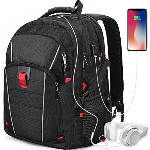 Laptop Backpack 17.3 Inch USB Charging Port Waterproof Outdoor Travel...