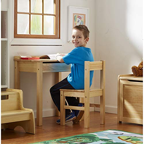 Melissa & Doug Personalized Wooden Lift-Top Desk & Chair Childrens-Desks, Honey