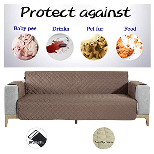 NEKOCAT Sofa Cover,100% Waterproof Nonslip Quilted Furniture Protector Slipcover, Seat Width to 68