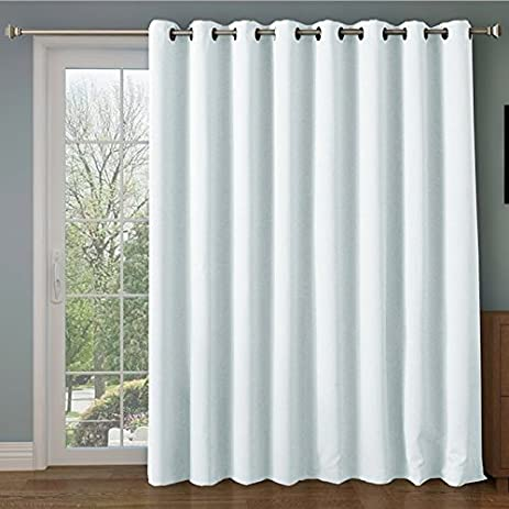RHF Wide Thermal Blackout Patio Door Curtain Panel, Sliding Door Insulated  Curtains,Thermal Curtains
