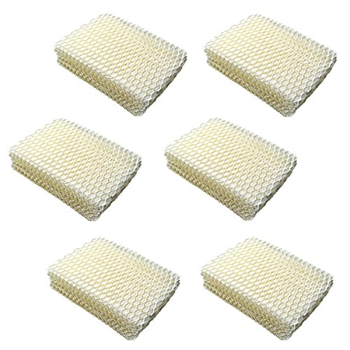 HQRP 6-Pack Humidifier Wick Filter for ProCare PCCM-832N Cool Mist Humidifier, AC813 PCWF813 PCWF813-24 Replacement Coaster