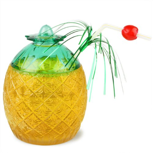 Pineapple Glass 20.8oz / 590ml | Plastic Pineapple Shaped Cocktail Glass
