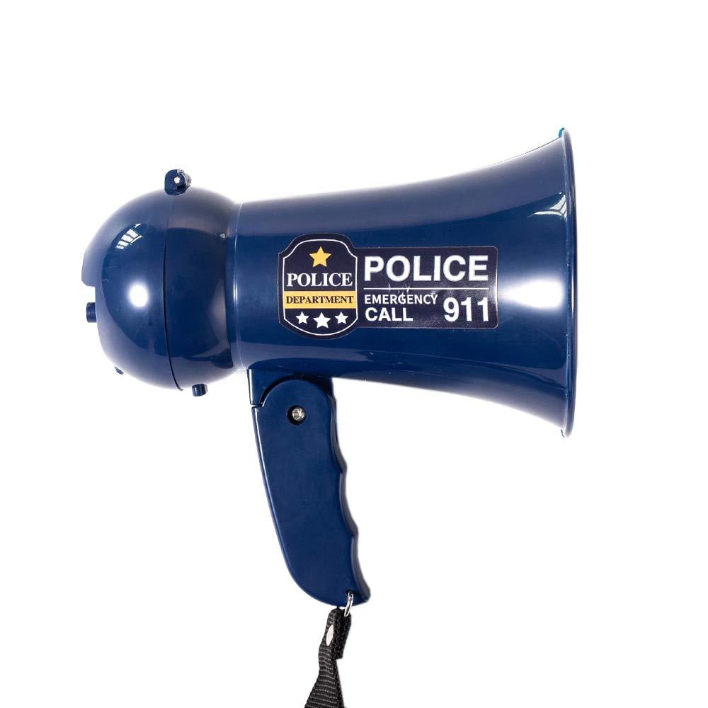 HDT Megaphone Speaker Portable Pretend Play Kids Policeman's Megaphone Bullhorn with Siren Sound Handheld Mic Toy by HDT