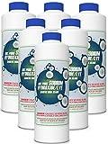 FDC Pure Sodium Hydroxide Lye for Soap Making | Lye Drain Opener | Caustic Soda Beads | Pure Lye - 6 x 2 LB Jar Case