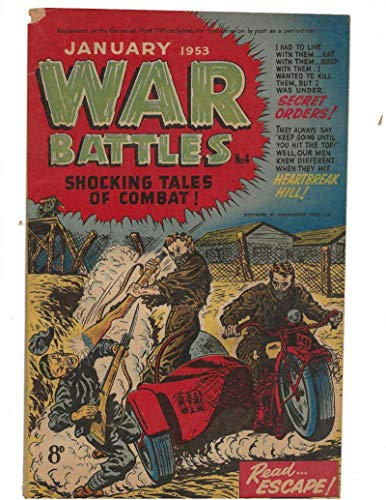 (War Battles #4 1953 Australian Motorcycle Escape Cover )