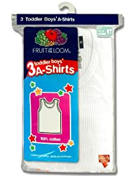 Fruit of the Loom Little Boys' Toddler 3-Pack A-Shirts