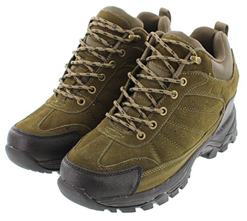 Calden Md047-3.6 Inches Taller - Height Increasing Elevator Shoes (olive Lace-up High-top Sneakers)