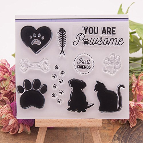 Yajom Dog Cat Clear Silicone Seal Stamp for DIY Album Scrapbooking Photo Card Decor by Yajom (Image #2)
