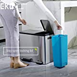 EKO Dual Compartment Stainless Steel Recycle Step