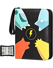 Pokemon Card Binder Compatible, Carrying Case Fit for Pokemon Binder Card Holder Trading Card Sleeves Set, Holds Up to 400 Cards