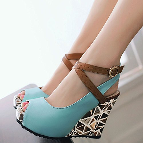 Blue Talon Compense Sandales Mode Femmes Zanpa wFq1PXnA