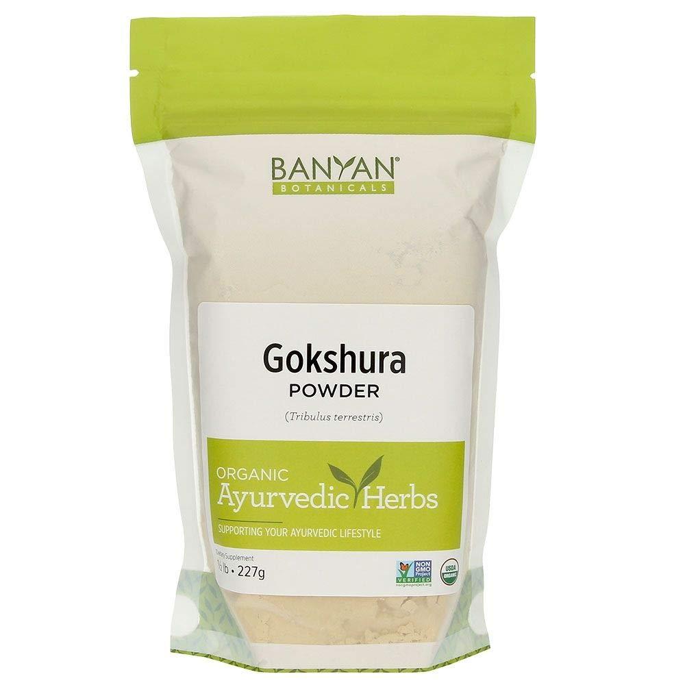 Banyan Botanicals Gokshura Powder - Certified Organic, 1/2 Pound - Tribulus terrestris - Supports proper function of the urinary tract and prostate* by Banyan Botanicals