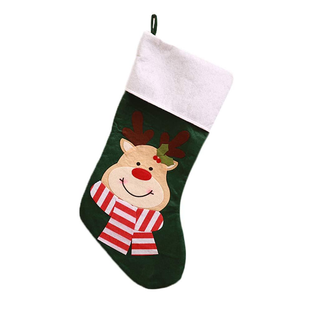 Topdo Bolsa de Regalo Navidad con Cajas de Elk Lindo Portátil Gift Bag Decoración Colgante para Navidad Fiesta de Boda Bolsas de Regalo 1 Pieza Negro 48 * 20cm