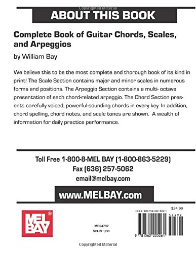 Complete Book Of Guitar Chords Scales And Arpeggios William Bay