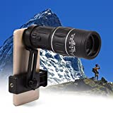 Fosa 16X Hiking HD Camera Lens Monocular Telescope Zoom Waterproof Fog Proof with Phone Holder
