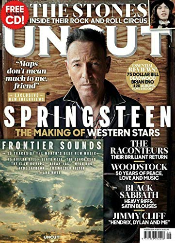 Rolling Stone Lips Flaming - Uncut Magazine (August, 2019) Bruce Springsteen The Making of Western Stars