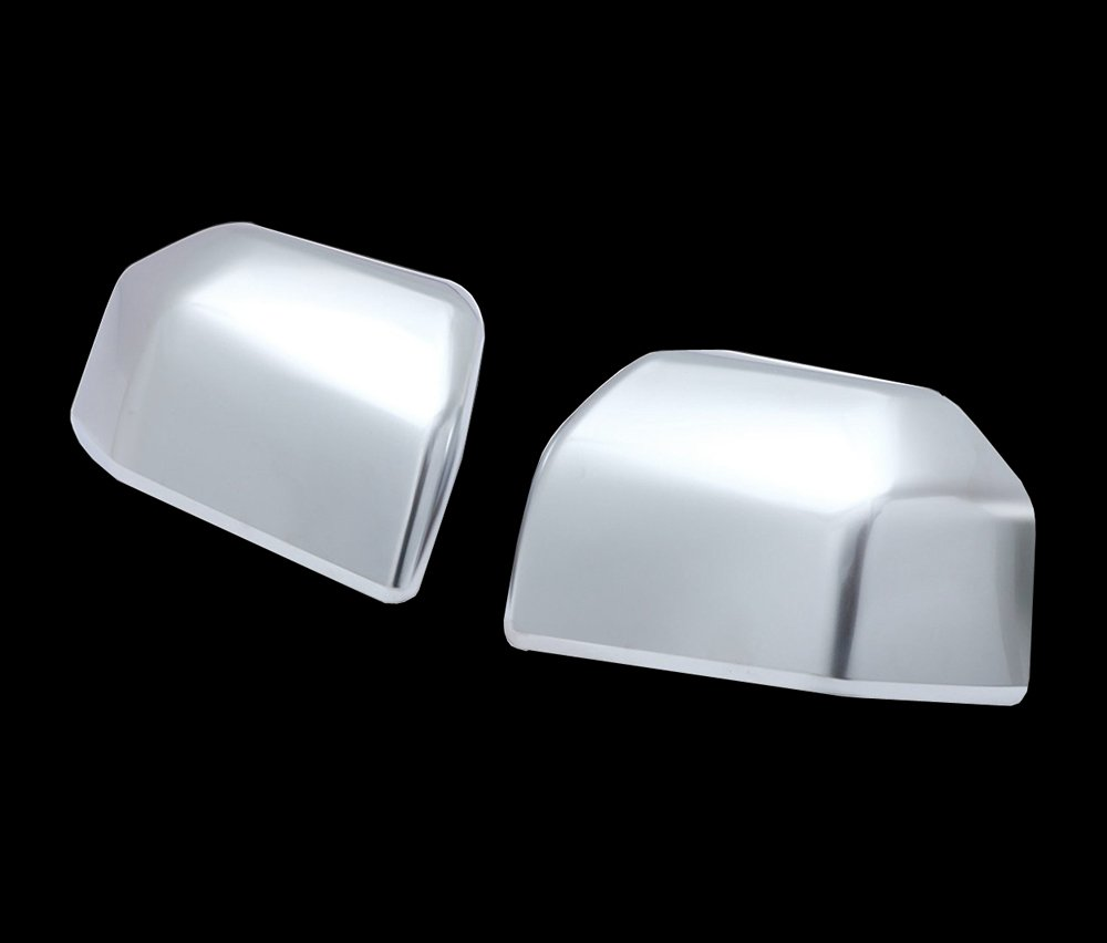 MaxMate Fit 2015-2016 Ford F-150 Chrome Top Half Mirror Cover for Black Style