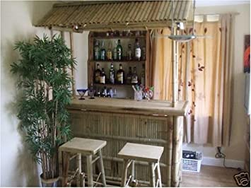 Kon Tiki Japanese Bamboo Home Bar With Stools Amazon Co Uk