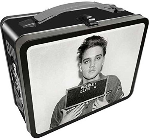 Elvis Presley The King Of Rock And Roll Vintage Style Metal Lunch Box