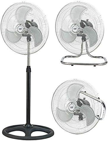 Ventilador Industrial Maestro 3 En 1 80w 46d 3 Velocidades Cromo/negro