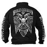 Harley-Davidson Men's Lightning Crest 1/4 Zip Cadet