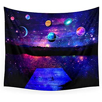Amazon Com Opticz Galaxy Blacklight Reactive Tapestry