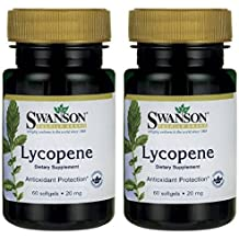 Swanson Premium Brand Lycopene 20mg -- 2 Bottles each of 60 Softgels