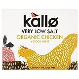 Kallo Organic Very Low Salt Chicken Stock Cubes (6x8g) - Pack of 6