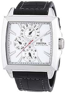 Festina F16586/1 - Reloj analógico de cuarzo para hombre con correa de piel, color negro