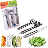 Speder Stainless Steel Kitchen Gadget Utensil Tool Set-1 Fish Scaler-1 Vegetable and Fruit Peeler-1 Fruit Knife