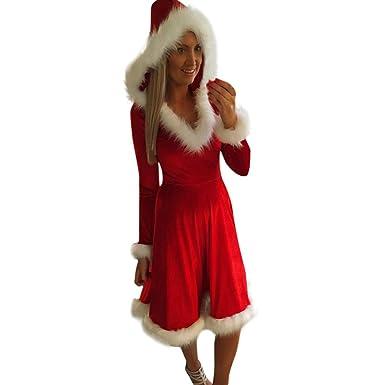 Vestido de Navidad Mujer YEZIA Disfraz de la Sra. Claus ...