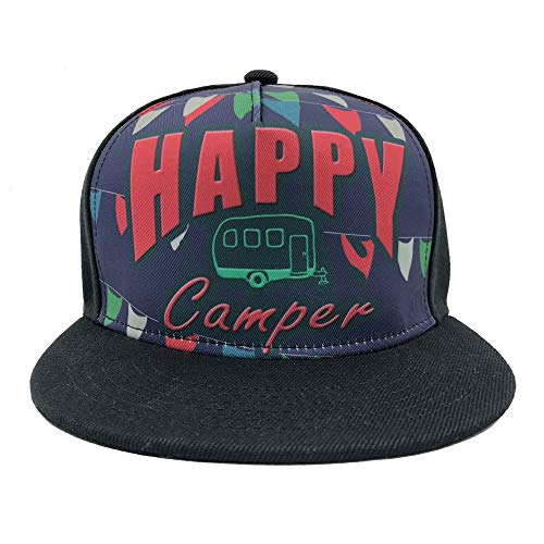 Channel Five Snapback Hats for Men Adjustable Funny Happy Camper Fitted Hats Baseball Cap -