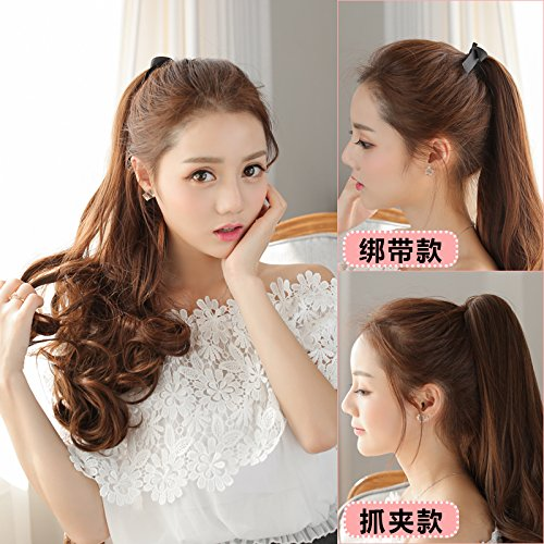 - Pony tail wig ponytail wig realistic pear shaped strap style pony tail new scroll waves last