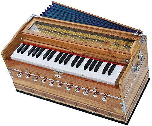 Queen Brass Harmonium-Magic_Voice-Peti-Baja-3¼ Octave-440Hz-Shruti-Yoga-Mantra-Kirtan-Bhajan