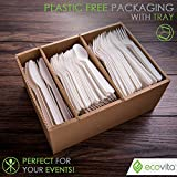 100% Compostable Forks Spoons Knives Cutlery