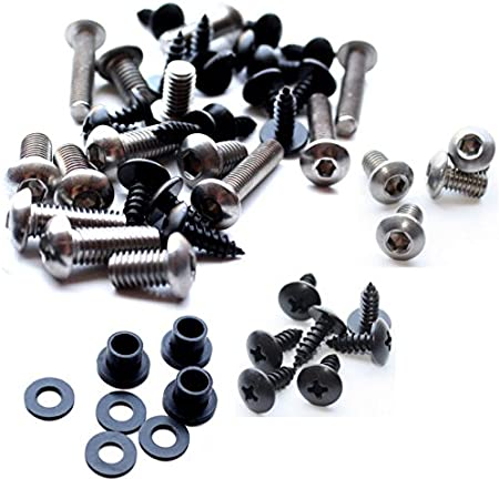 Standard Motorcycle Fairing Bolt Kit For Kawasaki Ninja ZX-6R 1998-1999 Body Screws and Hardware Fasteners