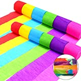 Coceca 36 Rolls Crepe Paper Streamers, 6 Colors, for Birthday Party, Class Party,Family Gathering ,Graduation Ceremony Decorations