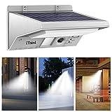 Solar Lights Outdoor, iThird 21 LED Motion Sensor Lights Sconces 3 Modes ...