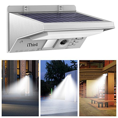 Solar Lights Outdoor Motion Sensor, IThird 21 LED 330LM Solar Powered  Security Lights For Yard Patio Garage Waterproof 3 Modes Super  Bright(Daylight)