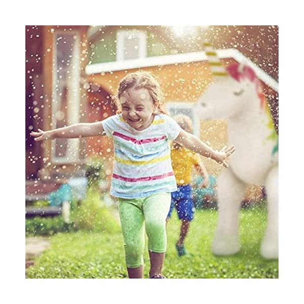 """Panther Magical Inflatable Unicorn Yard Sprinkler, Summer Outdoor Water Game Splash Play Alicorn/ Pegasus Lawn Sprinkler, Water Spray Toys Fun for Kid Child Adult, 4.5FT 55"""" Over 4 Feet Tall 7"""