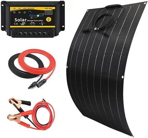 100W Watt 12V Flexible Solar Panel RV Kit 20A LED Controller off Grid Boat