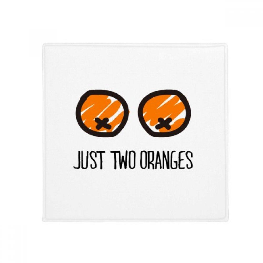 DIYthinker Just oranges Drawing Funny orange Anti-Slip Floor Pet Mat Square Home Kitchen Door 80Cm Gift