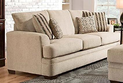 Amazon Com Chelsea Home Furniture Calexico Sofa Cornell Platinum