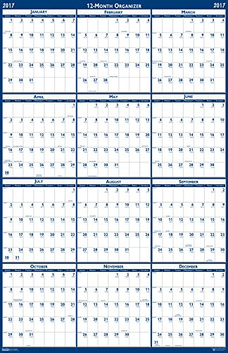 House of Doolittle 2018 Laminated Wall Calendar, Reversible, Horizontal/Vertical, 24 (Large Desk Calendar Base)