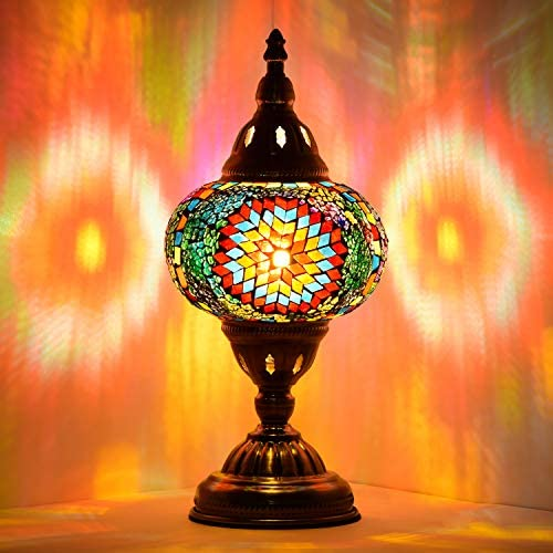 Marrakech Turkish Table Lamp Handmade Mosaic Glass Desk Table Lamp Moroccon Tiffany Style Bedside Night Light for Livingroom 1
