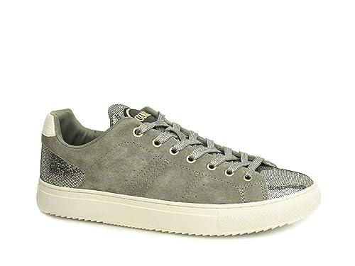 Colmar Bradbury Lux Grigio Scarpe Donna Sneakers Lacci camoscio Glitter   Amazon.it  Scarpe e borse 6b9ec41e3be
