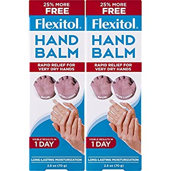 Flexitol Hand Balm for Fast Relief of Very Dry or Chapped Skin 2 Count Rich Moisturizing Hand Cream for Fast Relief of Very Dry or Chapped Skin, or Dryness Related to Eczema Psoriasis Dermatitis