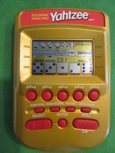 YAHTZEE ELECTRONIC HANDHELD Game (Red/Gold Case Edition WITH INSTRUCTIONS)